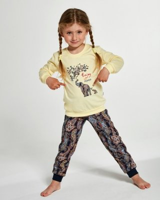 Cornette Kids Girl 594/133 Elephants 86-128 piżama dziewczęca