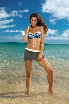 Spódniczka plażowa Marko Meg Jungle-Avorio M-266 Mocca + ecru (295)