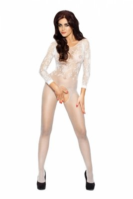 Passion BS007 white Bodystocking