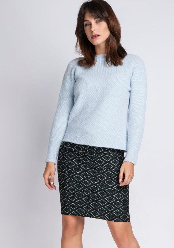 MKMSwetry Chloe SWE 091 błękitny sweter