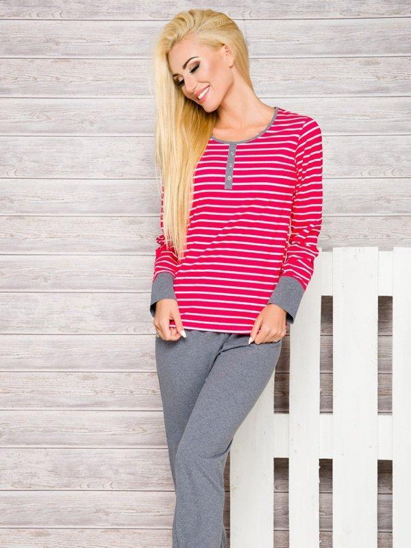 Taro Lisa 2120 AW/17 K1 Różowe paski piżama damska