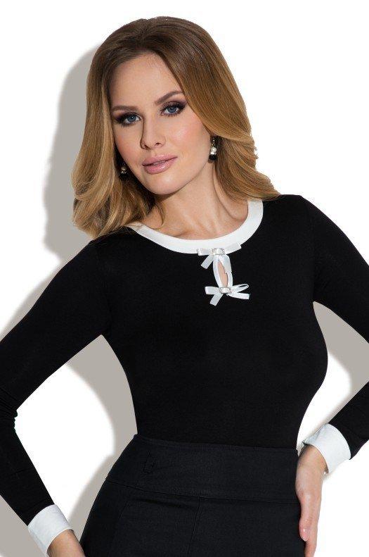 Eldar Carla Plus Czarna-ecru bluzka damska
