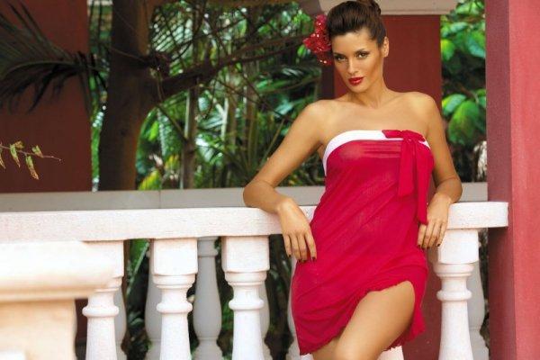 Marko Mia Arizona M-241 Czerwona (312) tunika plażowa