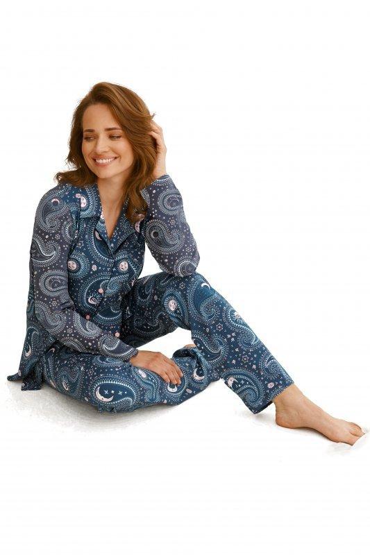 Taro 2564 Salma granatowa piżama damska