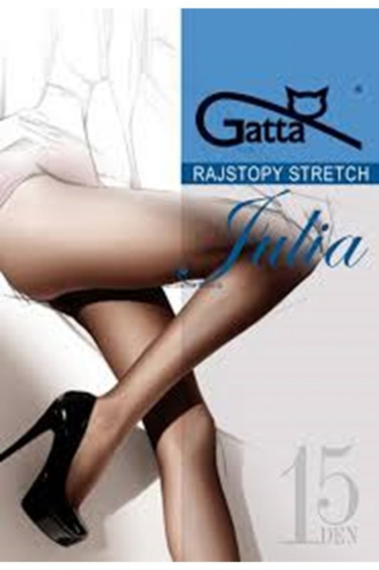 Gatta julia stretch 15 den plus beżowy rajstopy