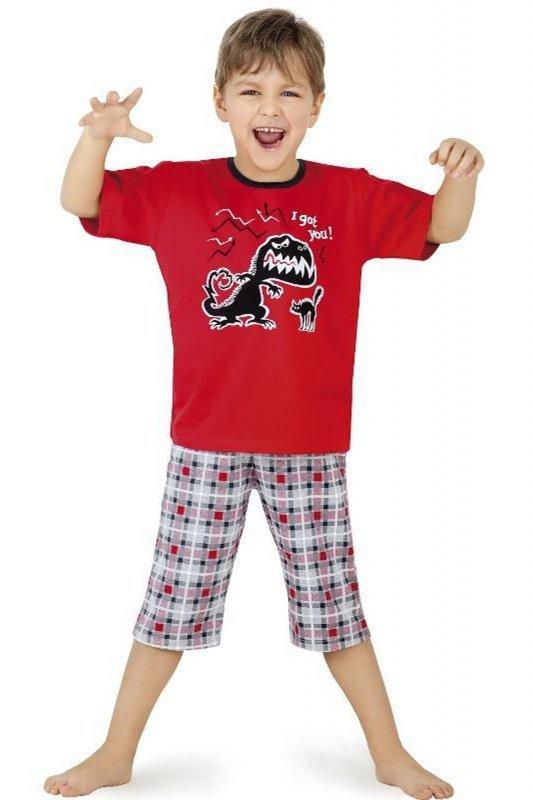 Cornette 541/17 czerwony piżama chłopięca
