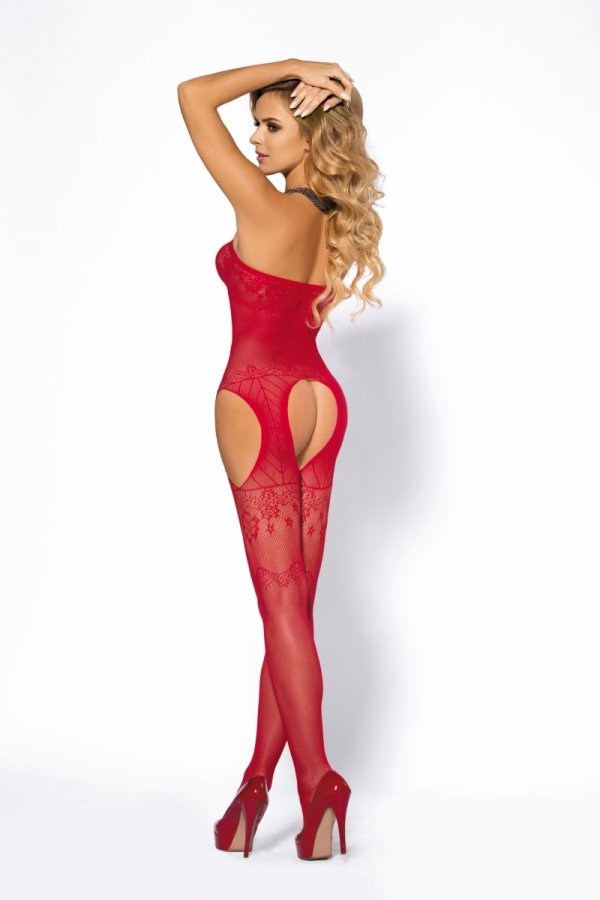 Anais Yoko red Bodystocking