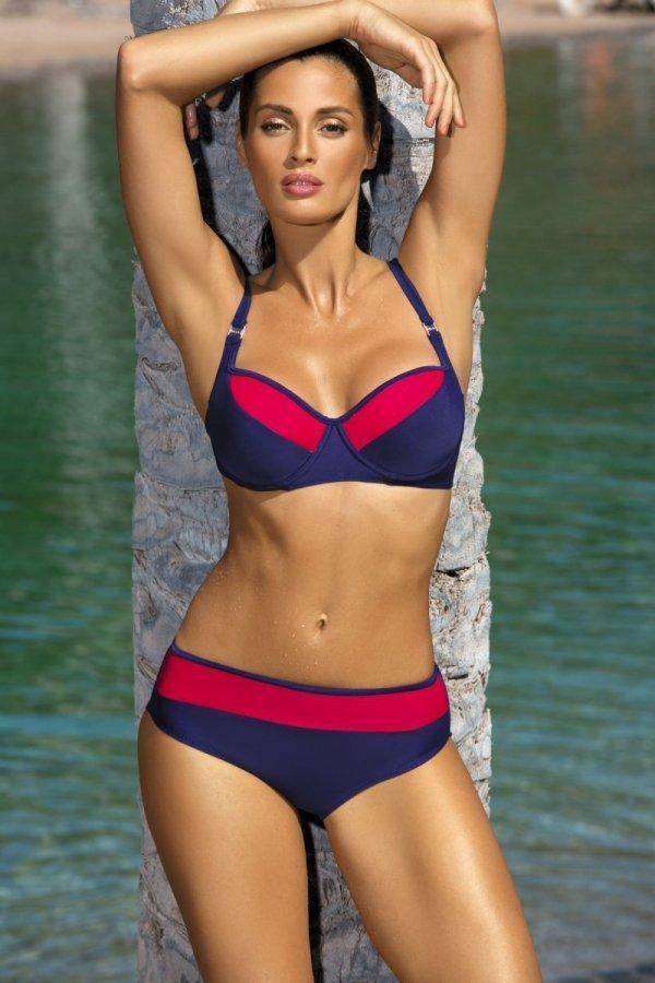 Kostium kąpielowy Marko Nancy Blueberry-Venere M-330 Granatowo-czerwony (152)