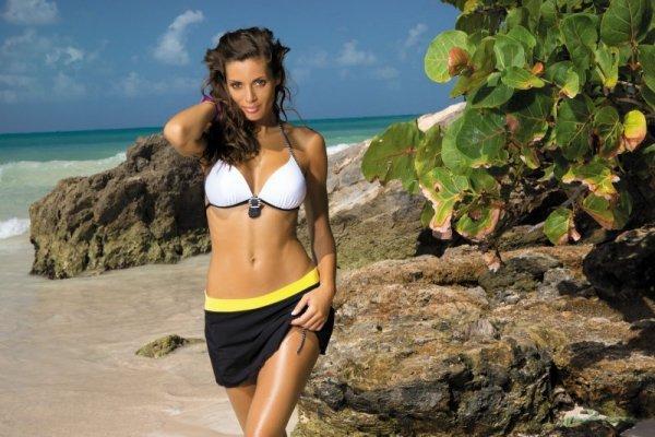 Spódniczka plażowa Marko Meg Nero-Primula M-266 Czarno-żółty (218)