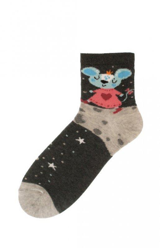 Bratex 9706 Happy Socks Kids Girl 22-29 skarpetki