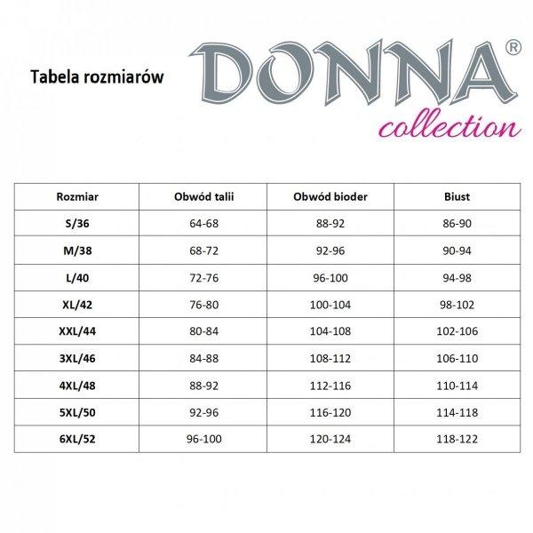 Donna Tess czarny Szlafrok damski Size Plus