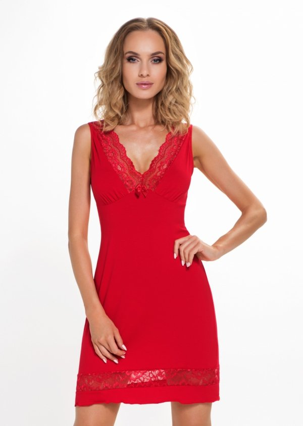 Donna Stella czerwona Koszula nocna