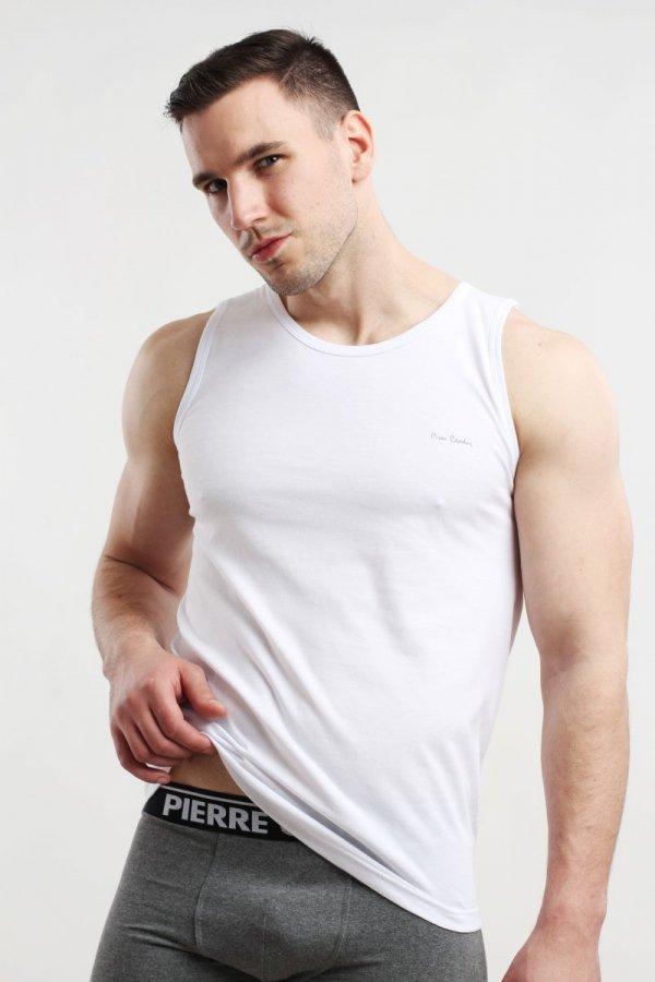 Pierre Cardin Tank Top biały Podkoszulek męski