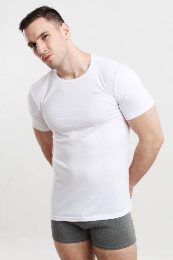 Pierre Cardin Rneck biała Koszulka męska