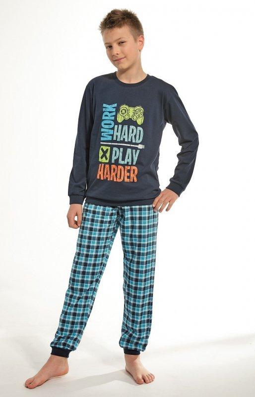 7186cb5645a624 Cornette Youg Boy 966 97 Game 134-164 piżama chłopięca - Piżamy ...