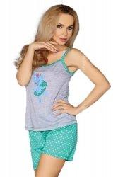 MODEL 723/1 GREEN piżama groszki