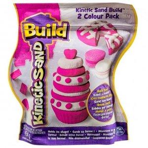 Kinetic Sand Build - piasek konstrukcyjny 2 kolory różowy-biały 454g