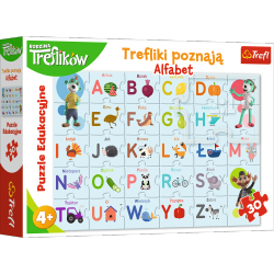 Puzzle Trefliki Poznają Alfabet 30 el. Trefl 15553