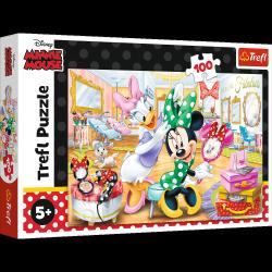 Puzzle Myszka Minnie w salonie kosmetycznym 100 el. Trefl 16387