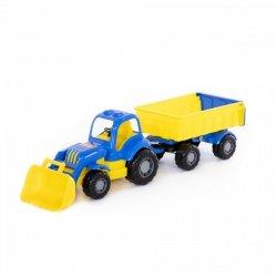 Traktor Siłacz z przyczepą Nr1 i łyżką Polesie 45027