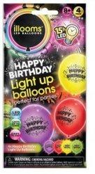 Balony LED Urodziny 4-pak TM Toys 80040