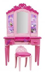 Toaletka dla laki Barbie Super Księżniczki Mebelki Mattel CDY64
