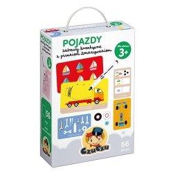 Pojazdy Zabawy kreatywne z pisakiem zmazywakiem CzuCzu 77356