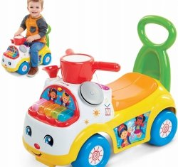 Samochód Jeździk Pchacz Muzyczna Parada Żółty Fisher Price 39988