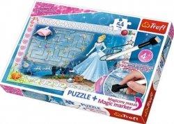 Puzzle Princess W poszukiwaniu pantofelka Plus pisak 54 el. Trefl 75112