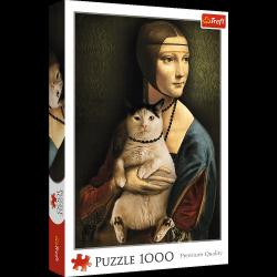 Puzzle Dama z Kotem 1000 el. Trefl 10663