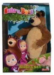 Masza i Niedźwiedź Zestaw pluszowy Misza + laleczka Simba 9301002