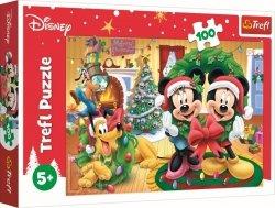 Puzzle Myszka Mickie i Przyjaciele Magia Świąt 100 el. Trefl 16365