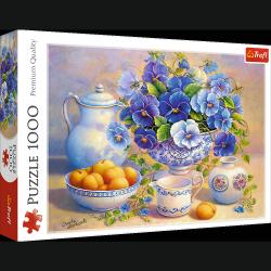 Puzzle Niebieski bukiet 1000 el Trefl 10466