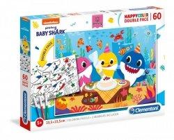 Puzzle Dwustronne Baby Shark 60 el. + Mazaki Clementoni 26095