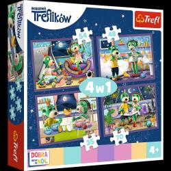 Puzzle 4w1 Wieczorne Rytuały Treflików Dobranoc Trefliki na Noc 35/48/54/70 el. Trefl 34370