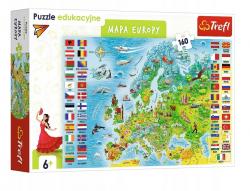 Puzzle Edukacyjne Mapa Europy 160 el. Trefl 15558