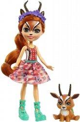 Lalka ze Zwierzątkiem Gazela i Racer Enchantimals Mattel GTM26