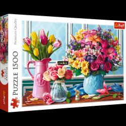 Puzzle Kwiaty w Wazonach 1500 el. Trefl 26157