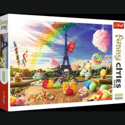 Puzzle Funny Cities Słodki Paryż 1000 el. Trefl 10597