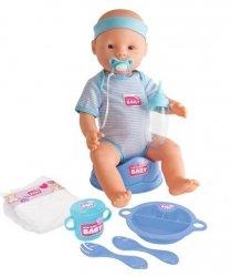 Bobas New Born Baby Chłopiec 43 cm Lalka Siusiająca Simba 5030044