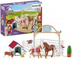 Konie - Goście Hannah Z Suczką Figurka Schleich 42458
