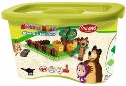 Klocki Masza i Niedźwiedź Ogród Niedźwiedzia Miszy 21 el. BIG 57092