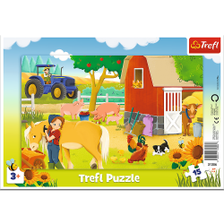 Puzzle Ramkowe Na Farmie 15 el. Trefl 31356