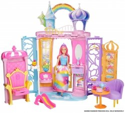 Tęczowy Pałacyk Dreamtopia Lalka Barbie Mattel FTV98
