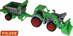 Farmer technik traktor z ładowarką i naczepą Polesie 8718