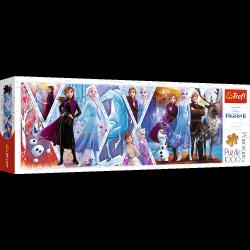 Puzzle Panoramiczne Kraina Lodu 2 Frozen 2 1000 el. Trefl 29048