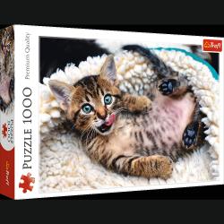 Puzzle Wesoły kotek 1000 el Trefl 10448