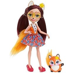 Enchantimals Felicity Fox Lalka + zwierzaczek lisek Mattel DVH89 DVH87