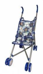 Wózek Spacerowy dla Lalek 52 cm Niebieski