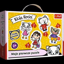 Puzzle Baby Moje Pierwsze Puzzle Wesoła Kicia Kocia 3/4/5/6 el. Trefl 36088